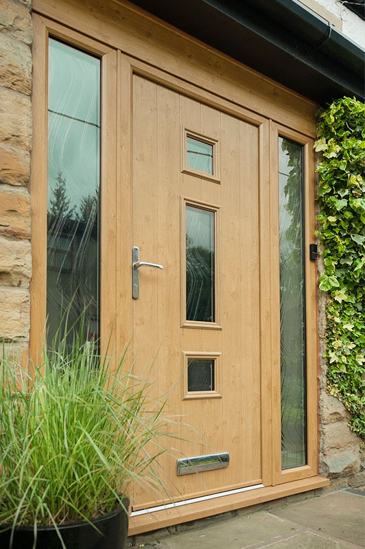 Abbey Windows Leicester natural composite doors