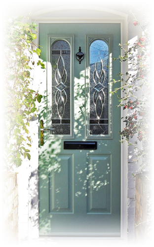 Abbey Windows Leicester green composite doors