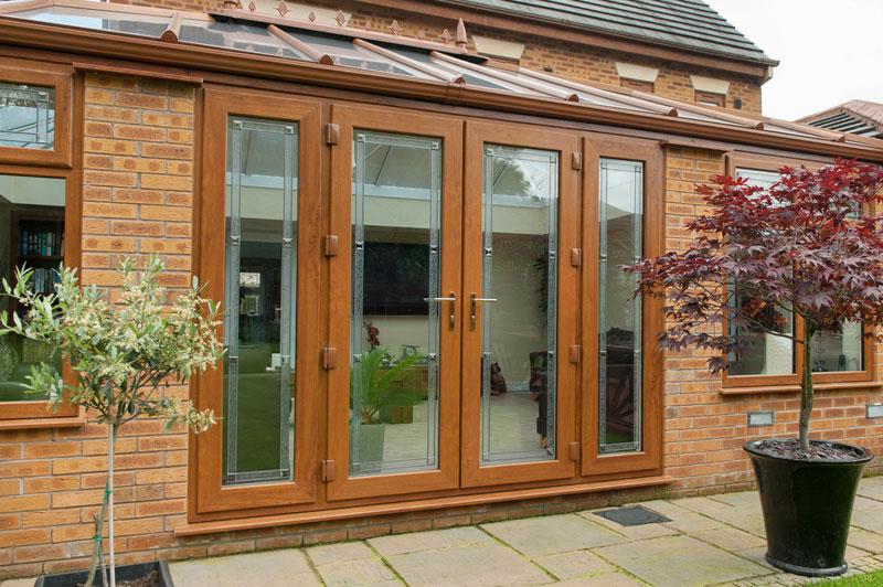 Abbey Windows Leicester upvc woodgrain French doors
