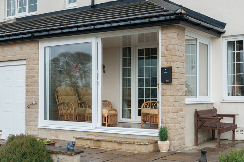 Abbey Windows Leicester upvc white sliding patio doors