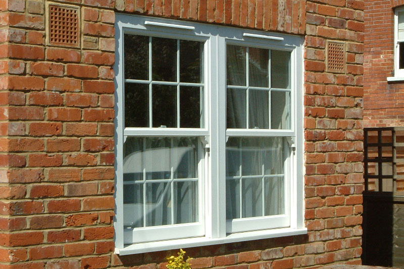 Abbey Windows Leicester upvc white pvc-u Vertical Sliding Sash windows with Georgian Bars
