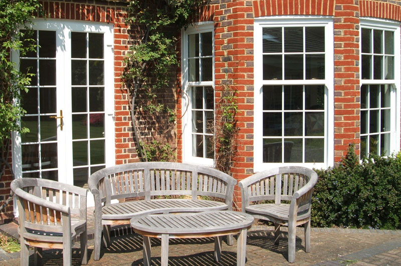Abbey Windows Leicester upvc white pvc-u Vertical Sliding Sash windows with Georgian Bars